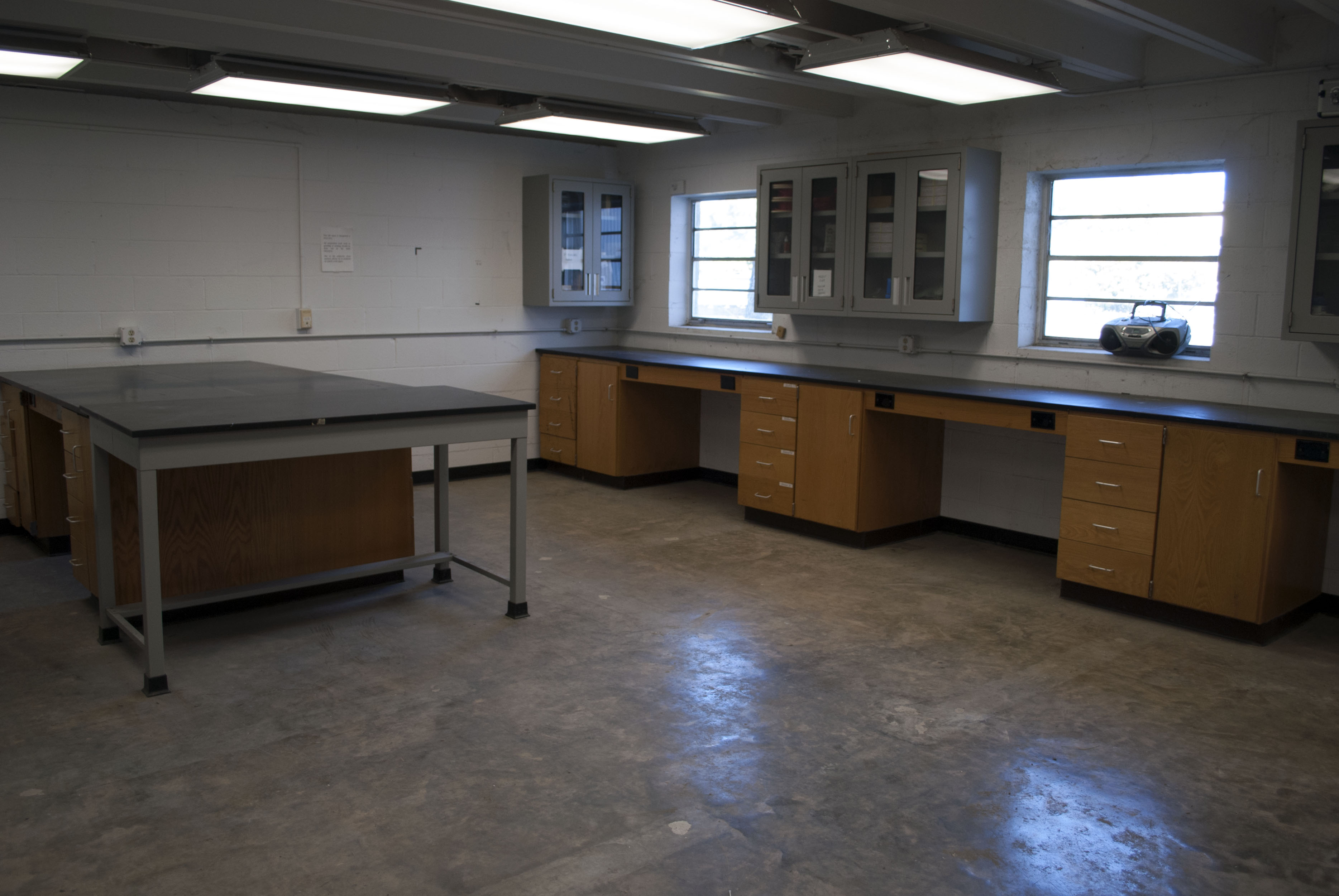 interior view of clean room