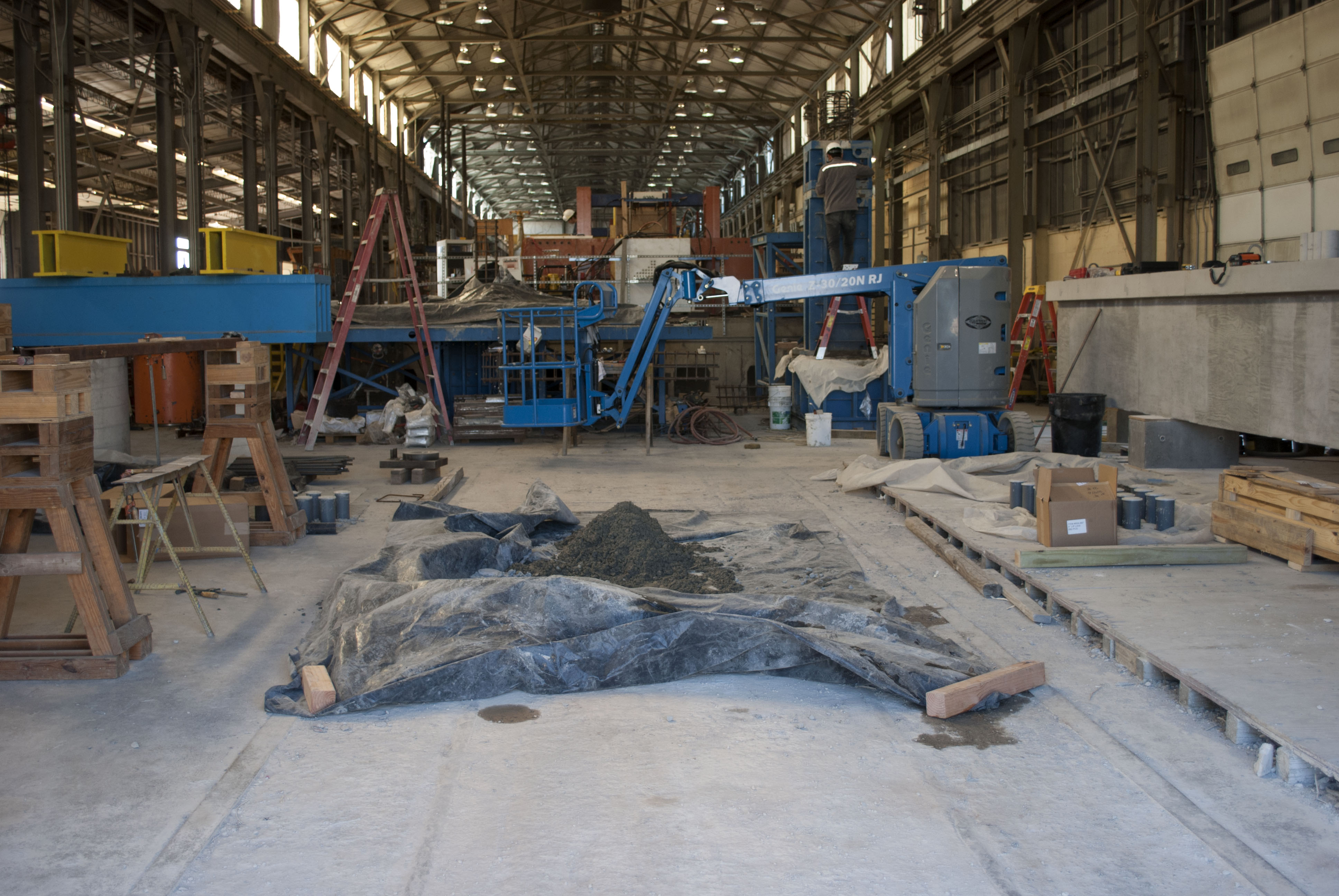 interior view of fabrication area