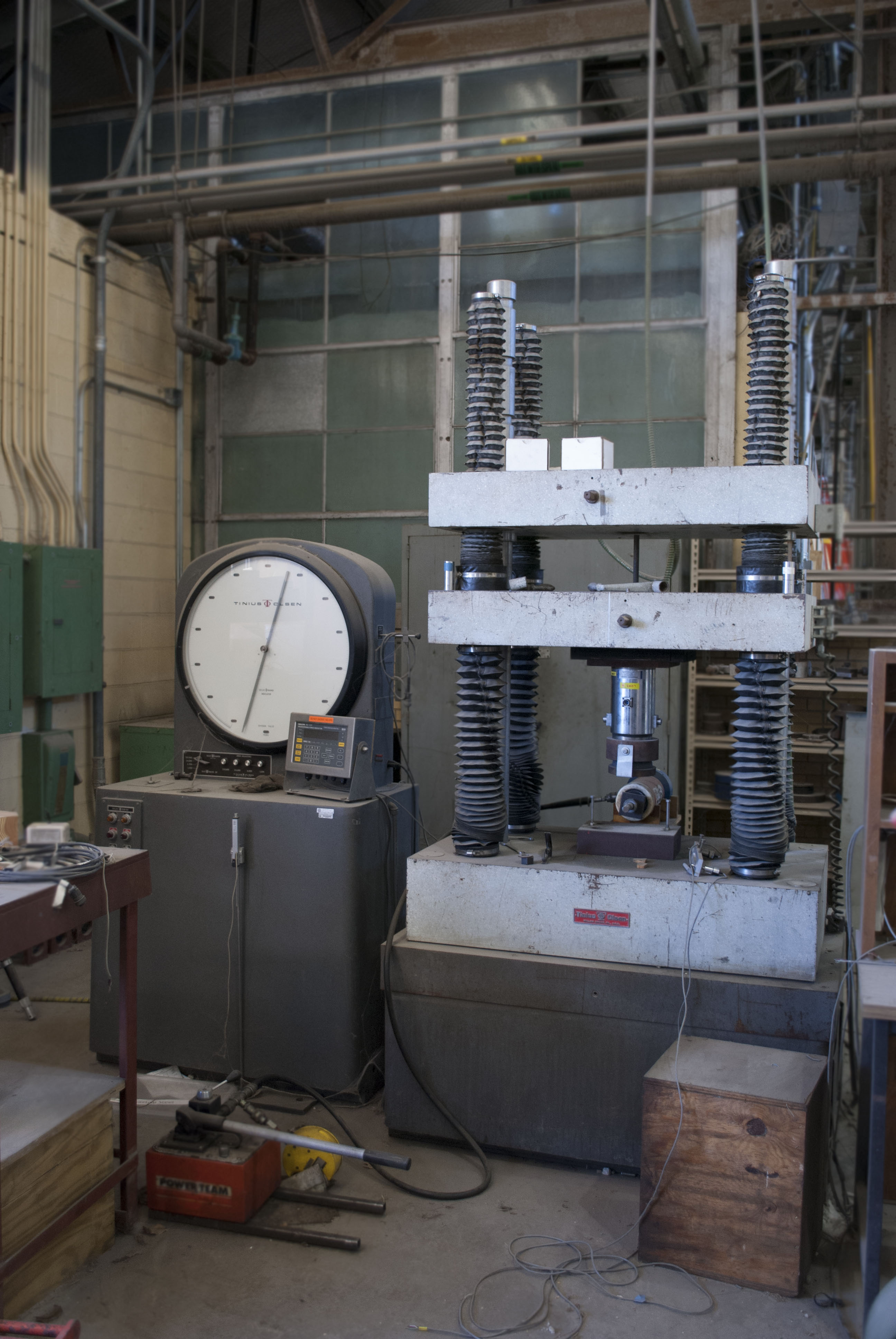 view of universal test machines