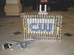 tv made out of cans
