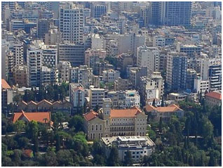 aerial view of Beirut